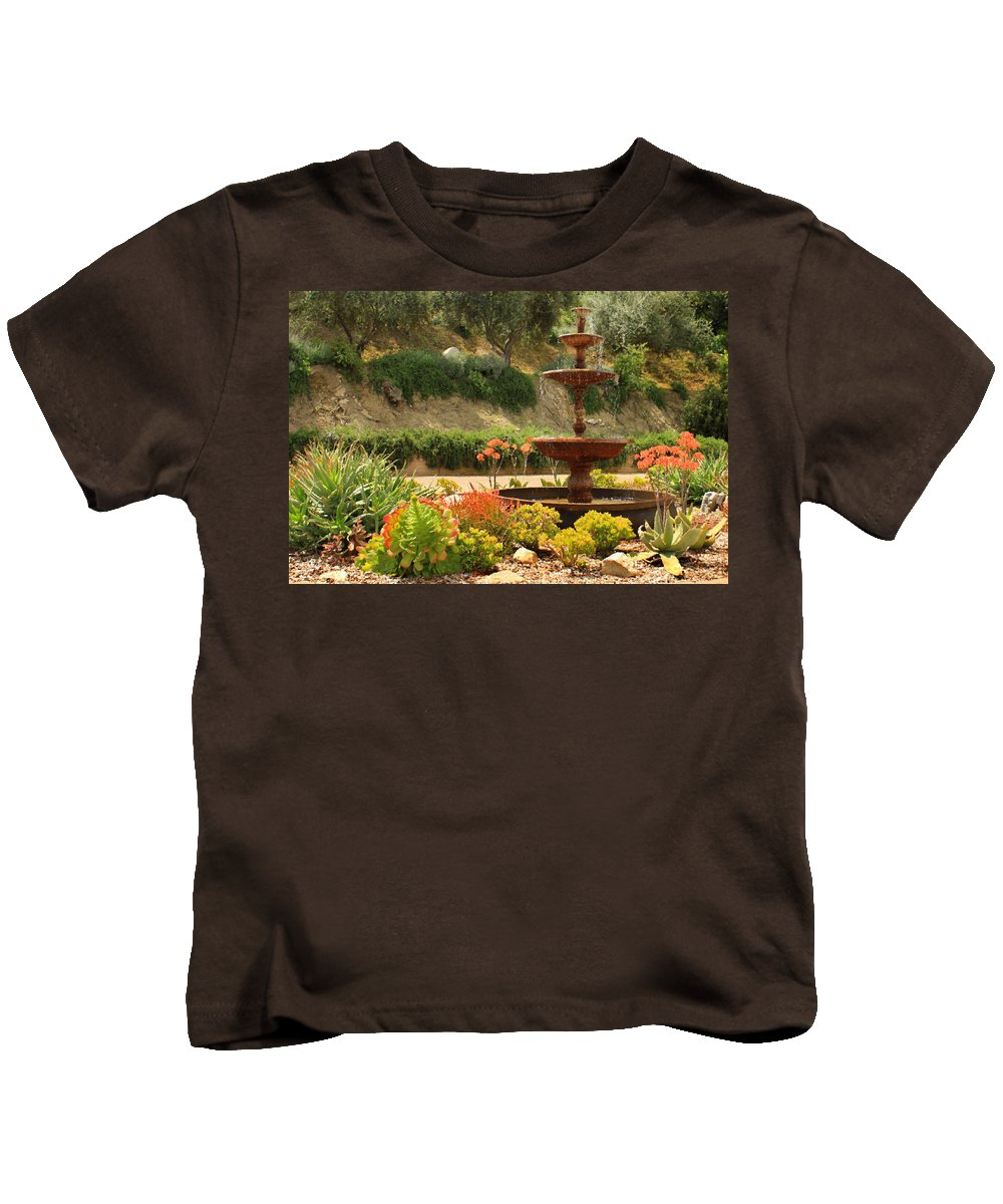 Floral Kids T-Shirt featuring the photograph Cactus Fountain by James Eddy