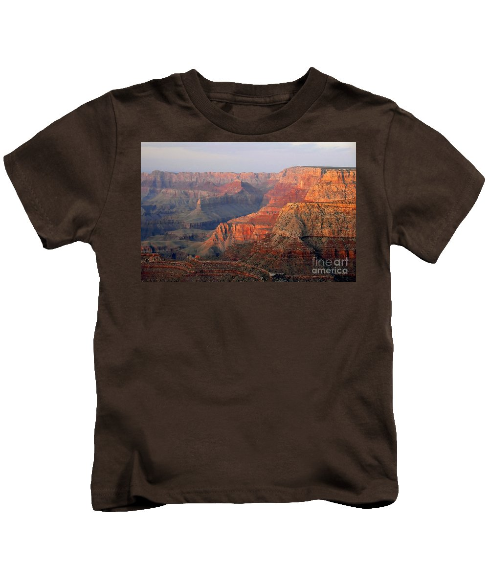 Grand Canyon Kids T-Shirt featuring the photograph Canyon Dusk by David Lee Thompson