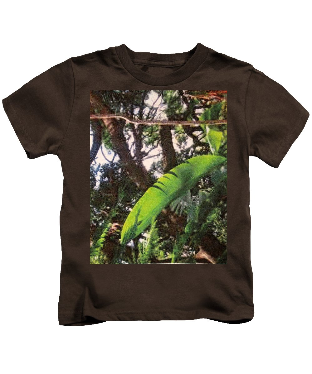 Caribbean Kids T-Shirt featuring the photograph Caribbean Banana Leaf by Ian MacDonald