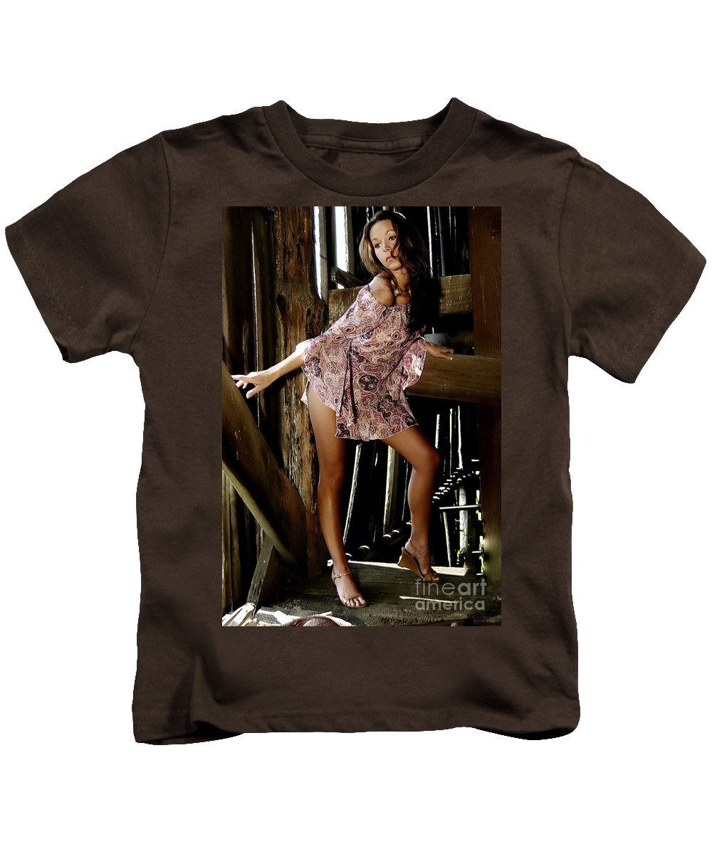 Clay Kids T-Shirt featuring the photograph Carla's In The Barn Again by Clayton Bruster