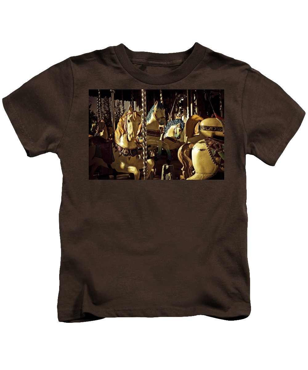 Paris Kids T-Shirt featuring the photograph Carousel I by Olivier De Rycke