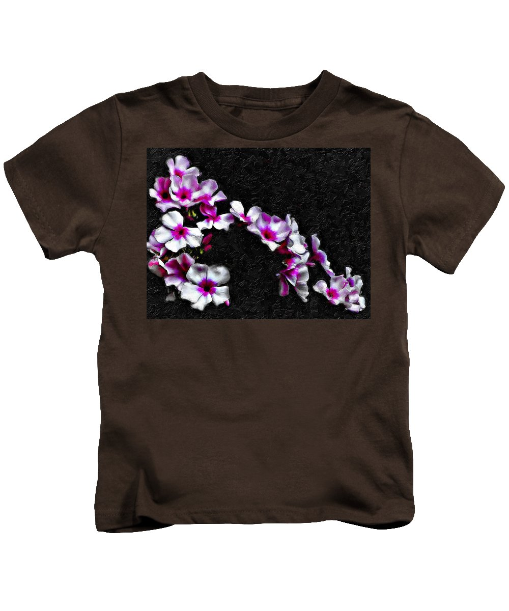 Floral Kids T-Shirt featuring the photograph Cascade Painted by Steve Harrington