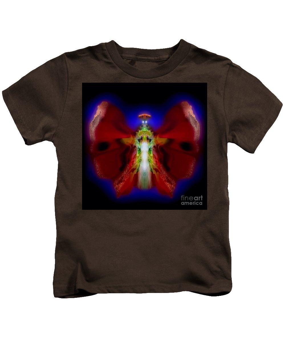 Cayenne Kids T-Shirt featuring the digital art Cayenne Lightningdance by Raymel Garcia