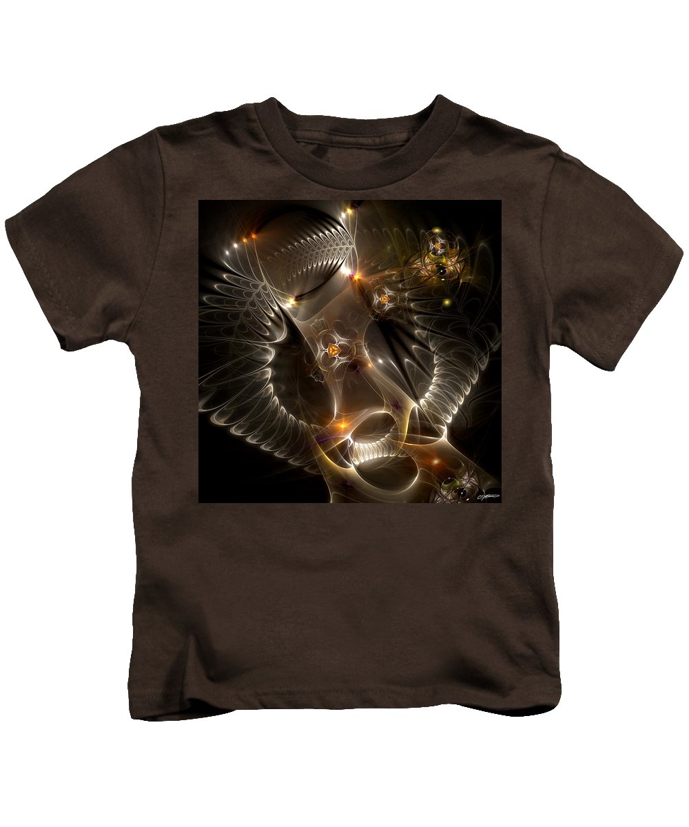 Abstract Kids T-Shirt featuring the digital art Cenogenesis by Casey Kotas
