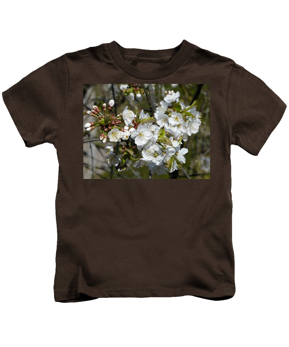 Cherry Kids T-Shirt featuring the photograph Cherry Blossom by Valerie Ornstein