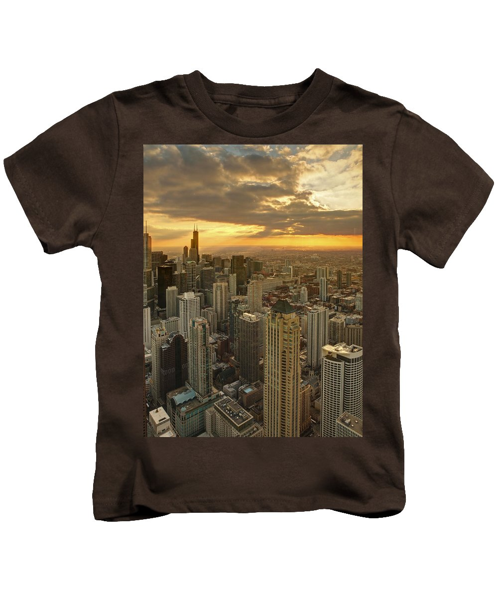 Chicago Kids T-Shirt featuring the photograph Chicago Evenings 2 by Ajit Pillai