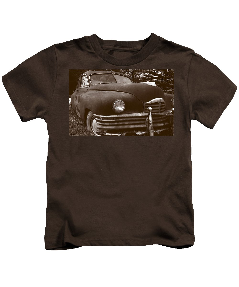 Old Car Kids T-Shirt featuring the photograph Chocolate Moose by Jean Macaluso