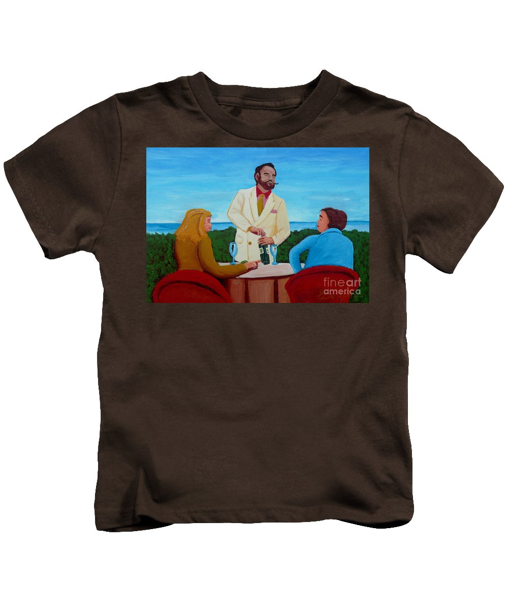 Wine Kids T-Shirt featuring the painting Choosing The Wine by Anthony Dunphy