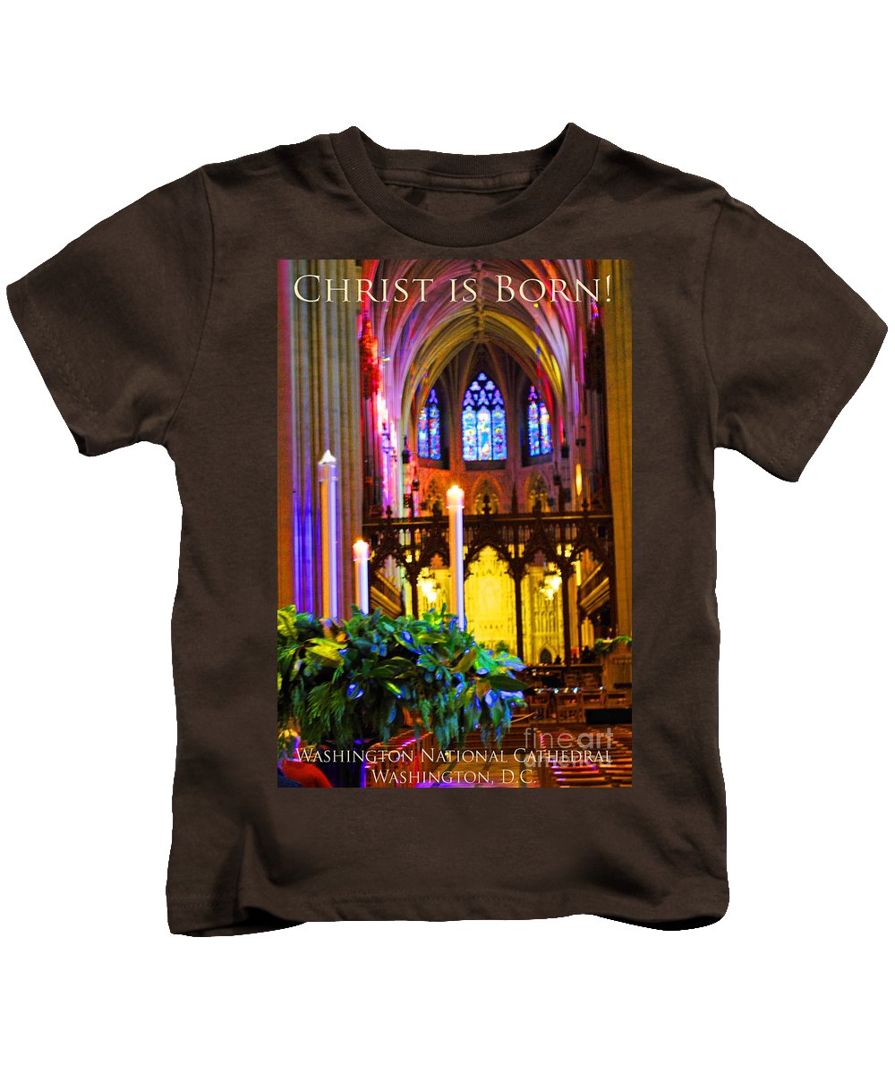 Washington Kids T-Shirt featuring the photograph Christ Is Born Travel by Jost Houk