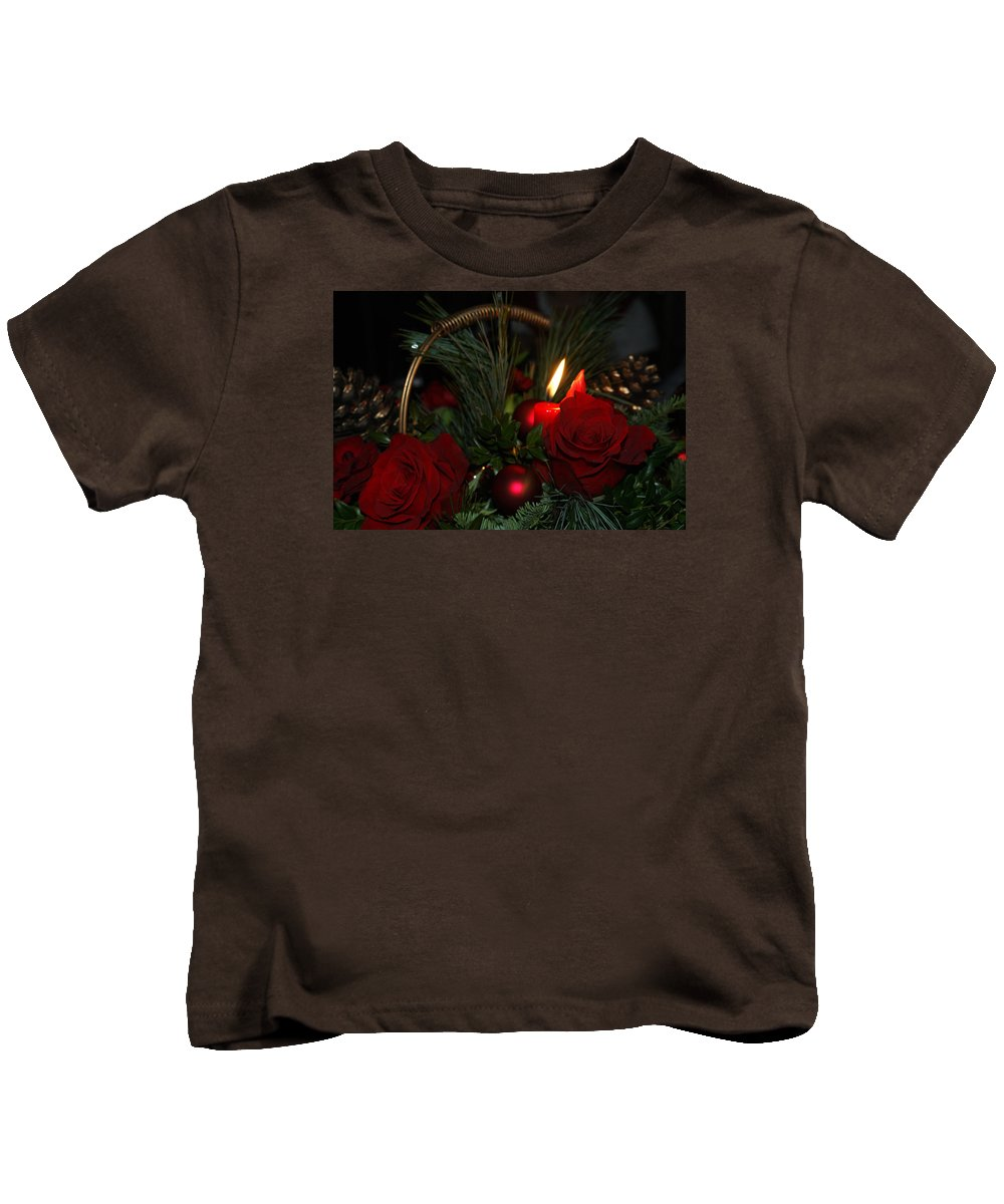 Basket Kids T-Shirt featuring the photograph Christmas Greetings by Maria Keady