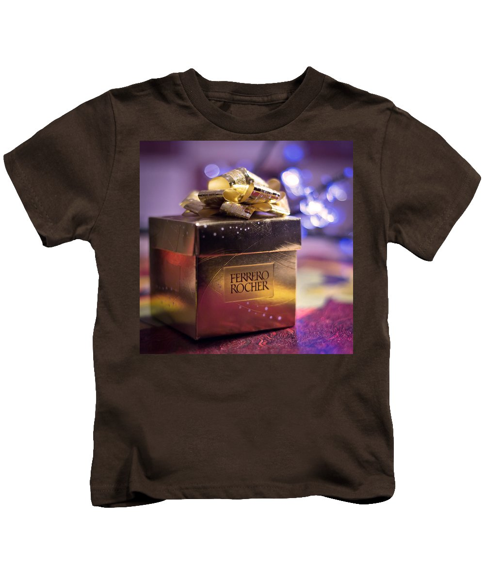Merry Christmas And Happy New Year Kids T-Shirt featuring the photograph Christmas Treat by Alex Art and Photo