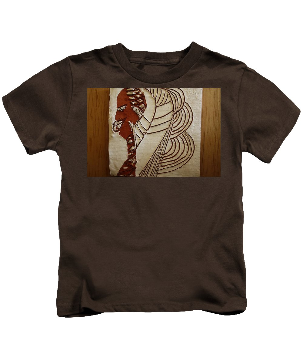 Jesus Kids T-Shirt featuring the ceramic art Church Lady 6 - Tile by Gloria Ssali
