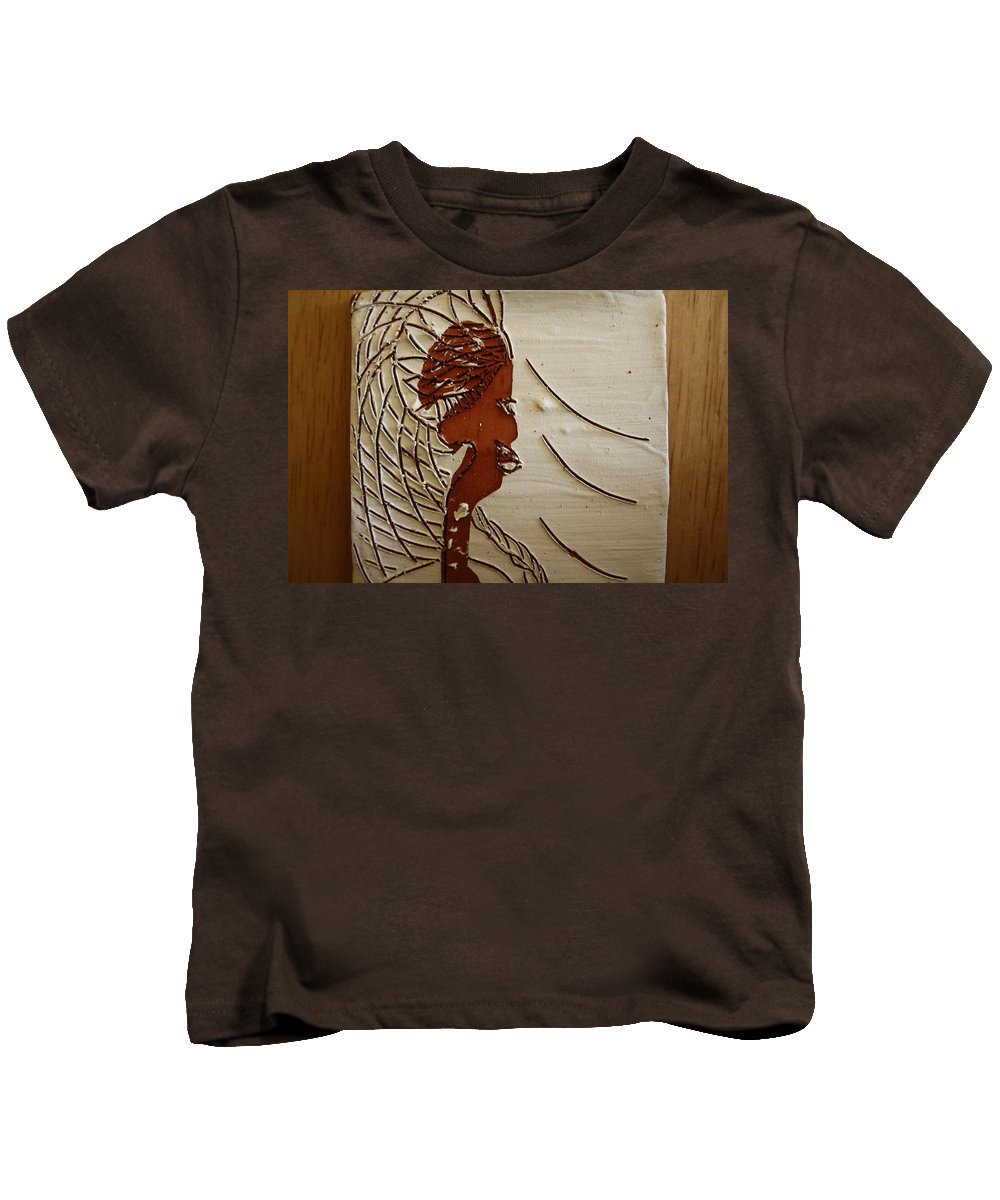 Jesus Kids T-Shirt featuring the ceramic art Church Lady 7 - Tile by Gloria Ssali