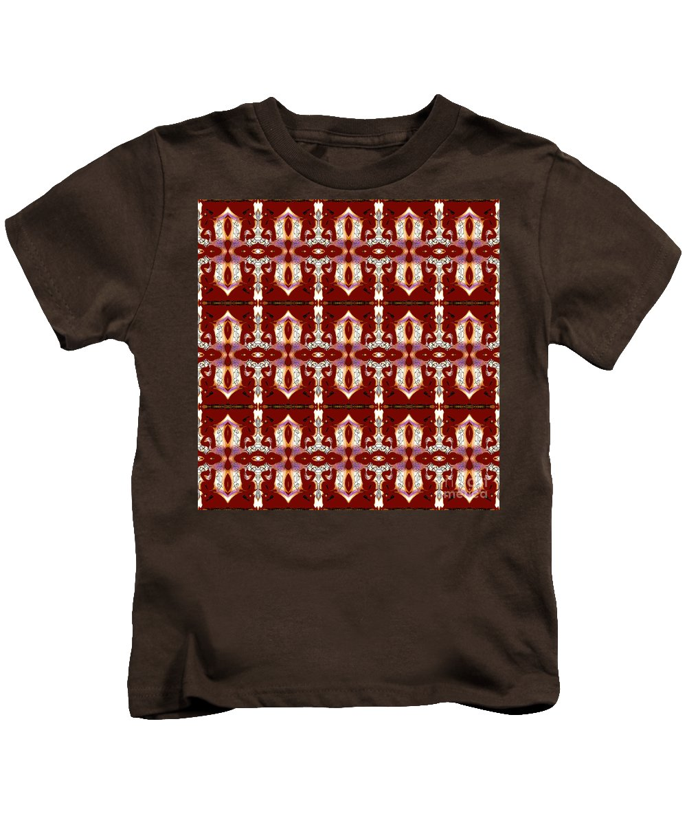 Abstract Pattern Kids T-Shirt featuring the digital art City Red by Elisabeth Skajem Atter