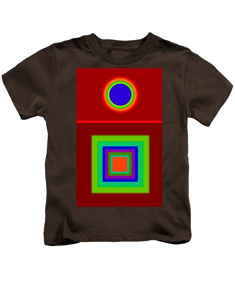 Classical Kids T-Shirt featuring the digital art Classic Terracota by Charles Stuart
