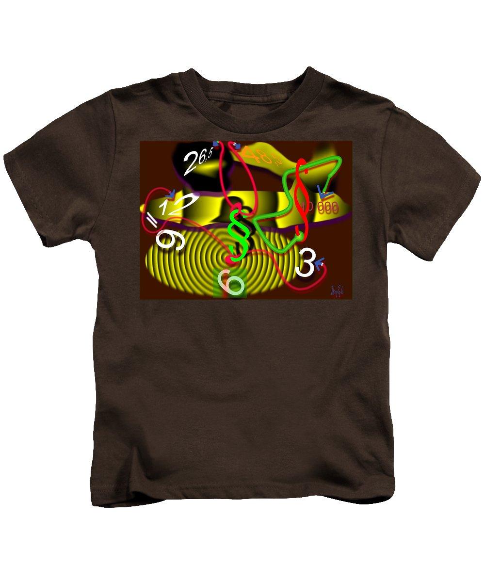 Clock Kids T-Shirt featuring the digital art Clock Of Politics 2010 by Helmut Rottler