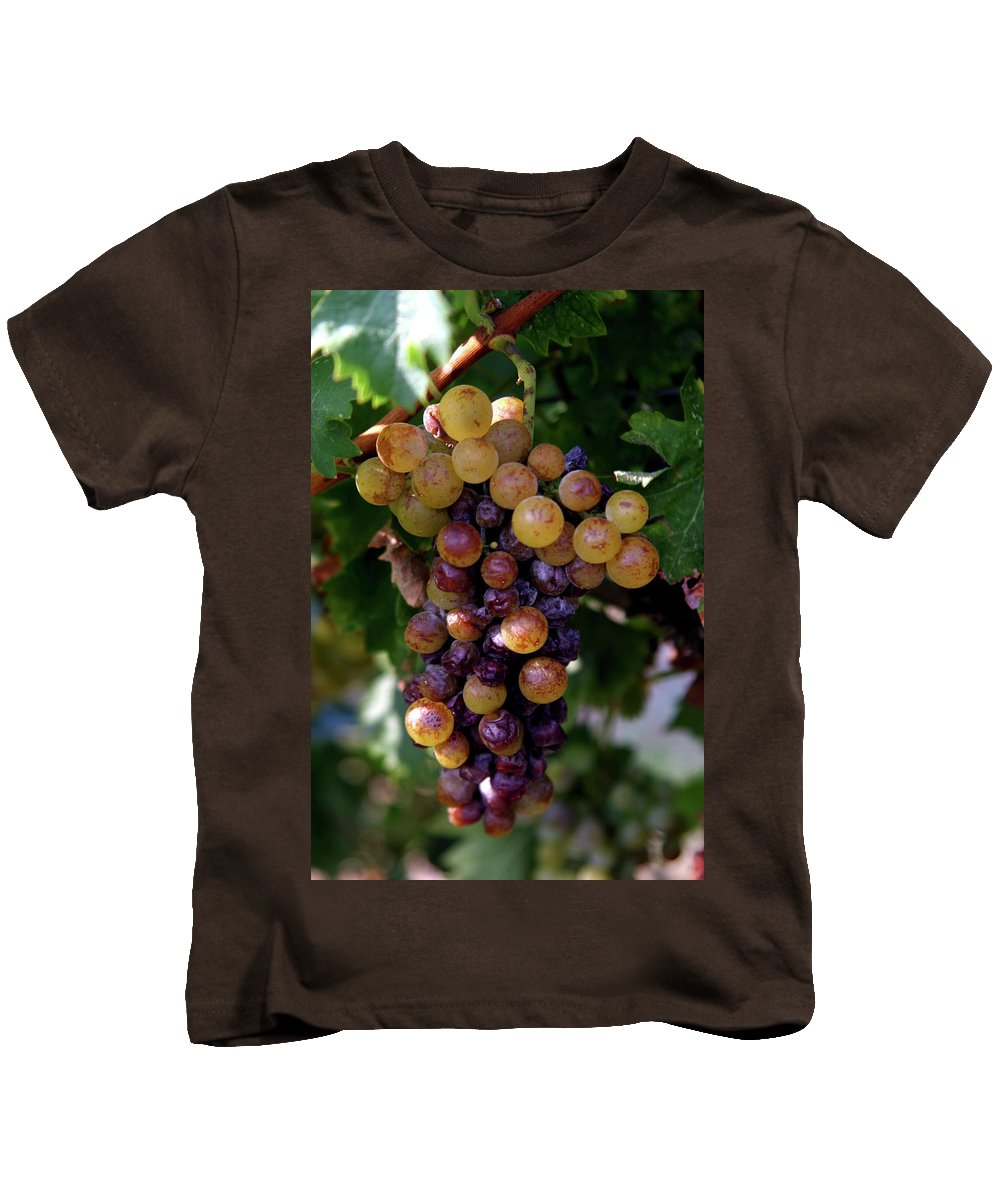 Grape Kids T-Shirt featuring the photograph Cluster Of Ripe Grapes by Amos Dor