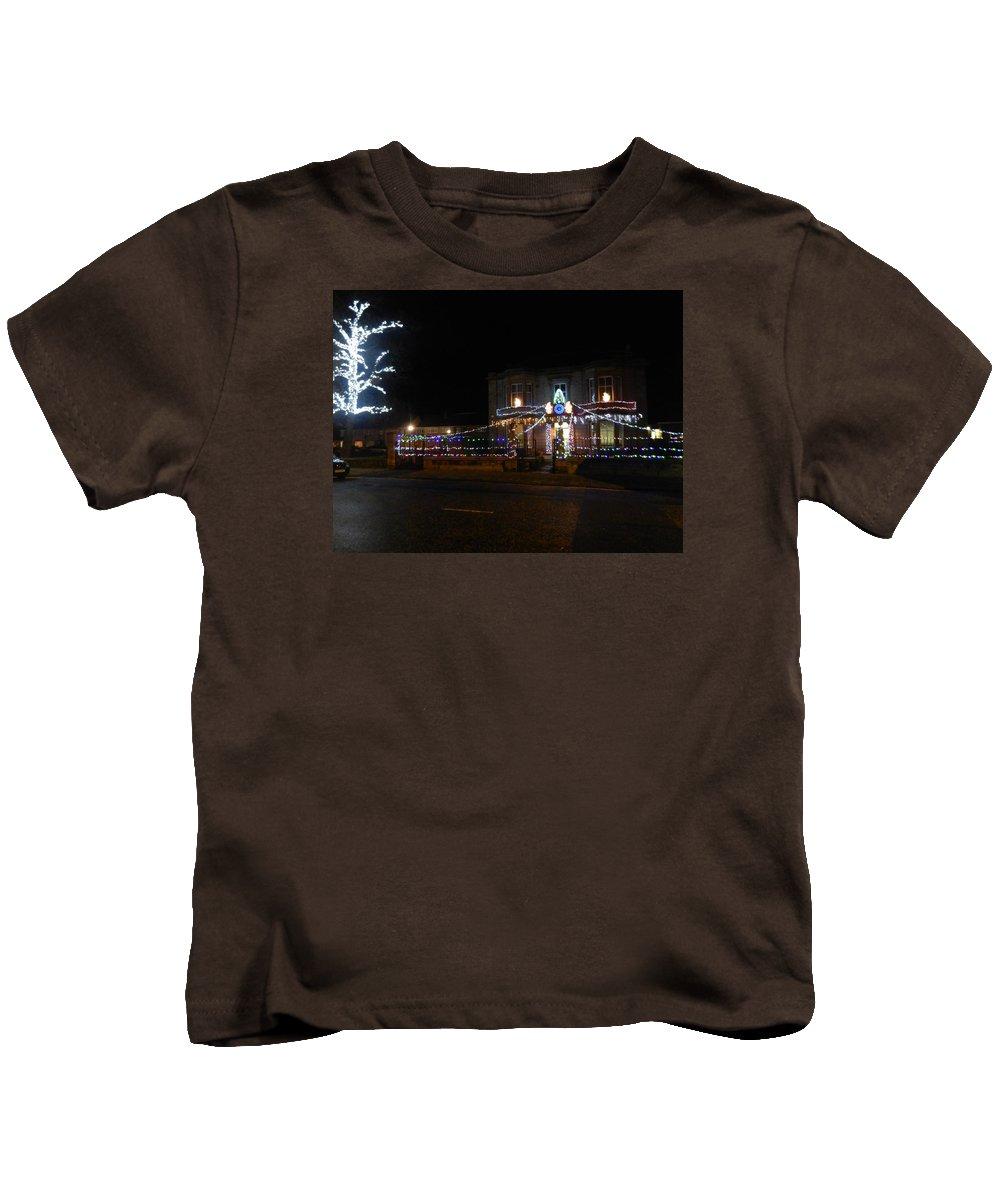 Nik Watt Kids T-Shirt featuring the photograph Co-op - The Front Elevation by Nik Watt