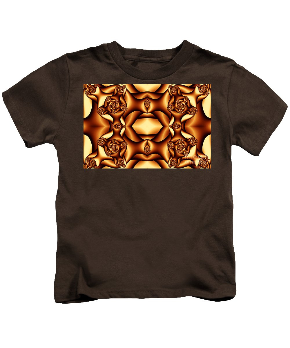 Clay Kids T-Shirt featuring the digital art Cocoa Fractal Roses by Clayton Bruster
