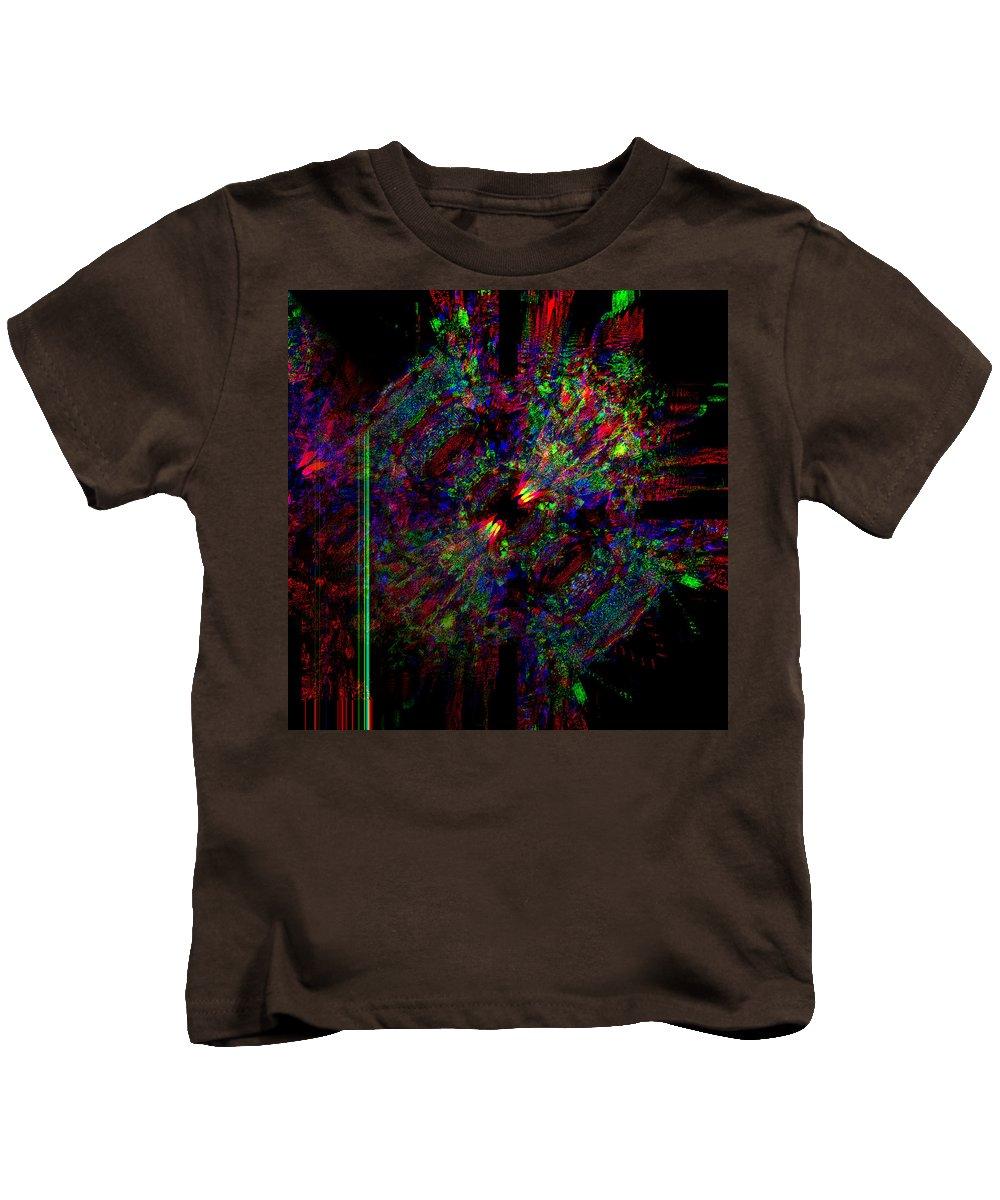 Blobs Kids T-Shirt featuring the digital art Collidal by Blind Ape Art
