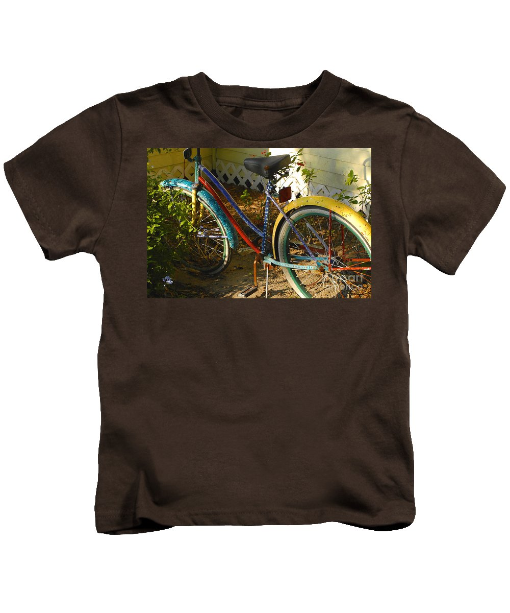 Bicycle Kids T-Shirt featuring the photograph Colorful Bike by David Lee Thompson