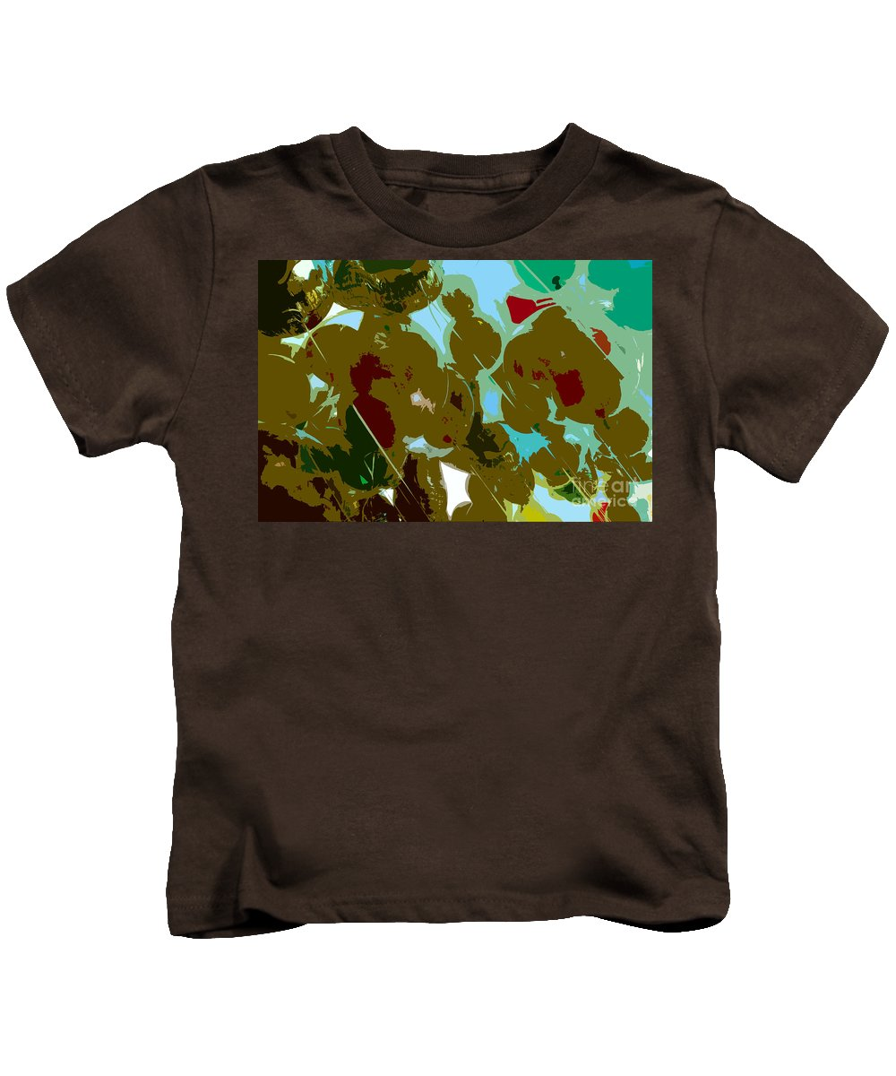 Balloons Kids T-Shirt featuring the painting Colors Of Happiness by David Lee Thompson