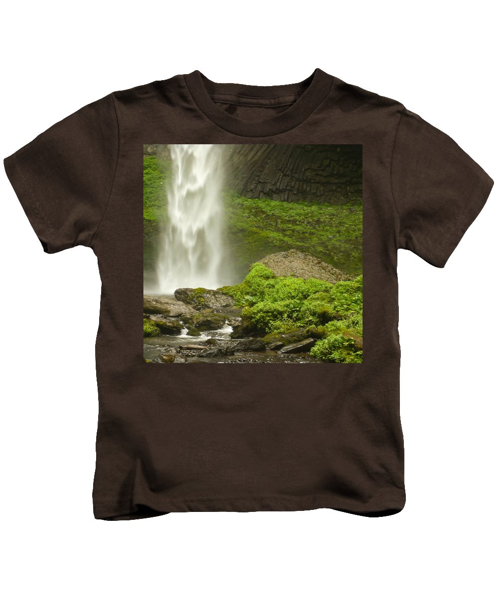 Clearwater Falls Kids T-Shirt featuring the photograph Columbia River Gorge 1 by Ingrid Smith-Johnsen