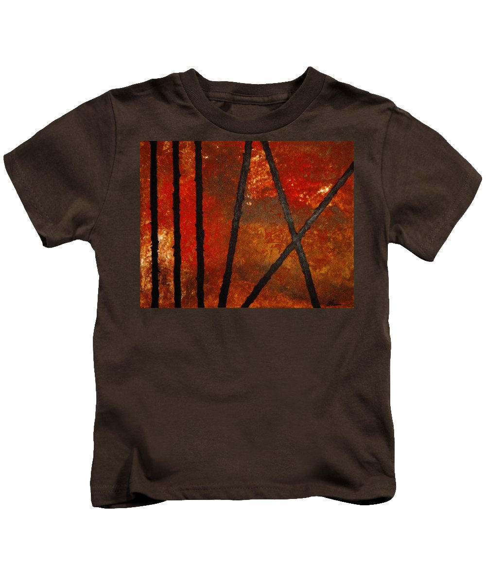 Original Abstract Acrylic Kids T-Shirt featuring the painting Coming Apart by Todd Hoover