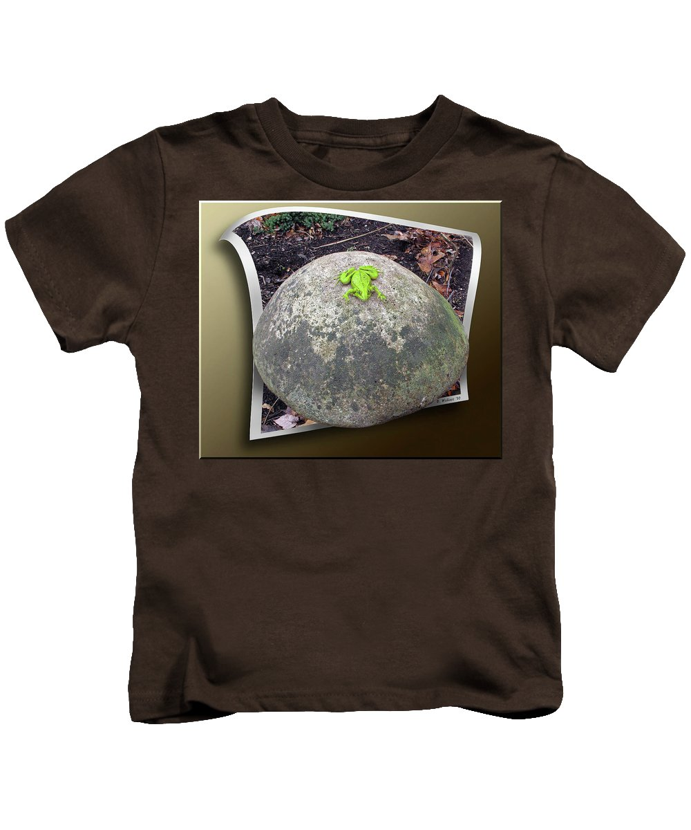 2d Kids T-Shirt featuring the photograph Concrete Toad Stool by Brian Wallace