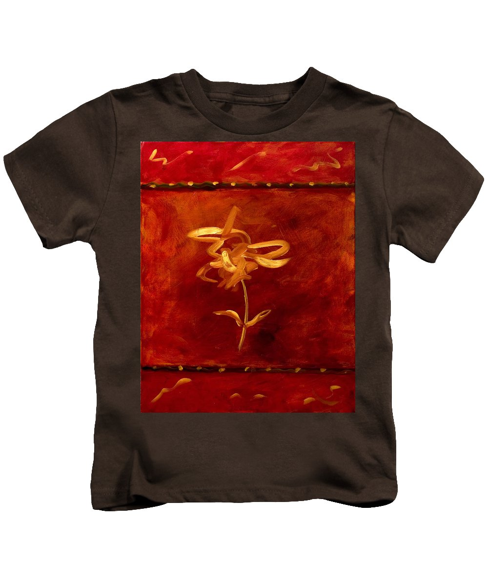 Abstract Kids T-Shirt featuring the painting Confidence by Shannon Grissom