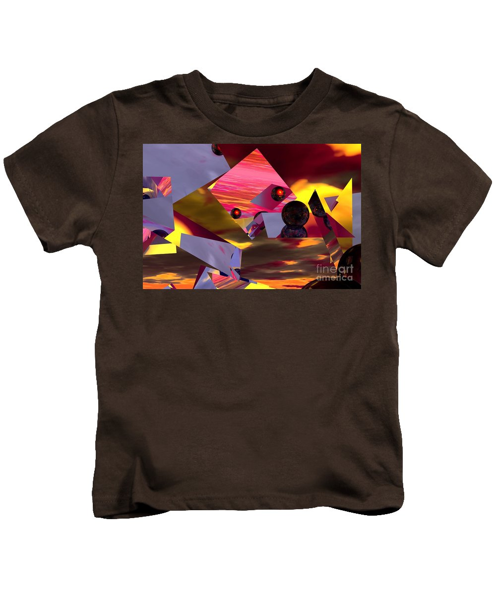 Kids T-Shirt featuring the digital art Contemplating The Multiverse. by David Lane