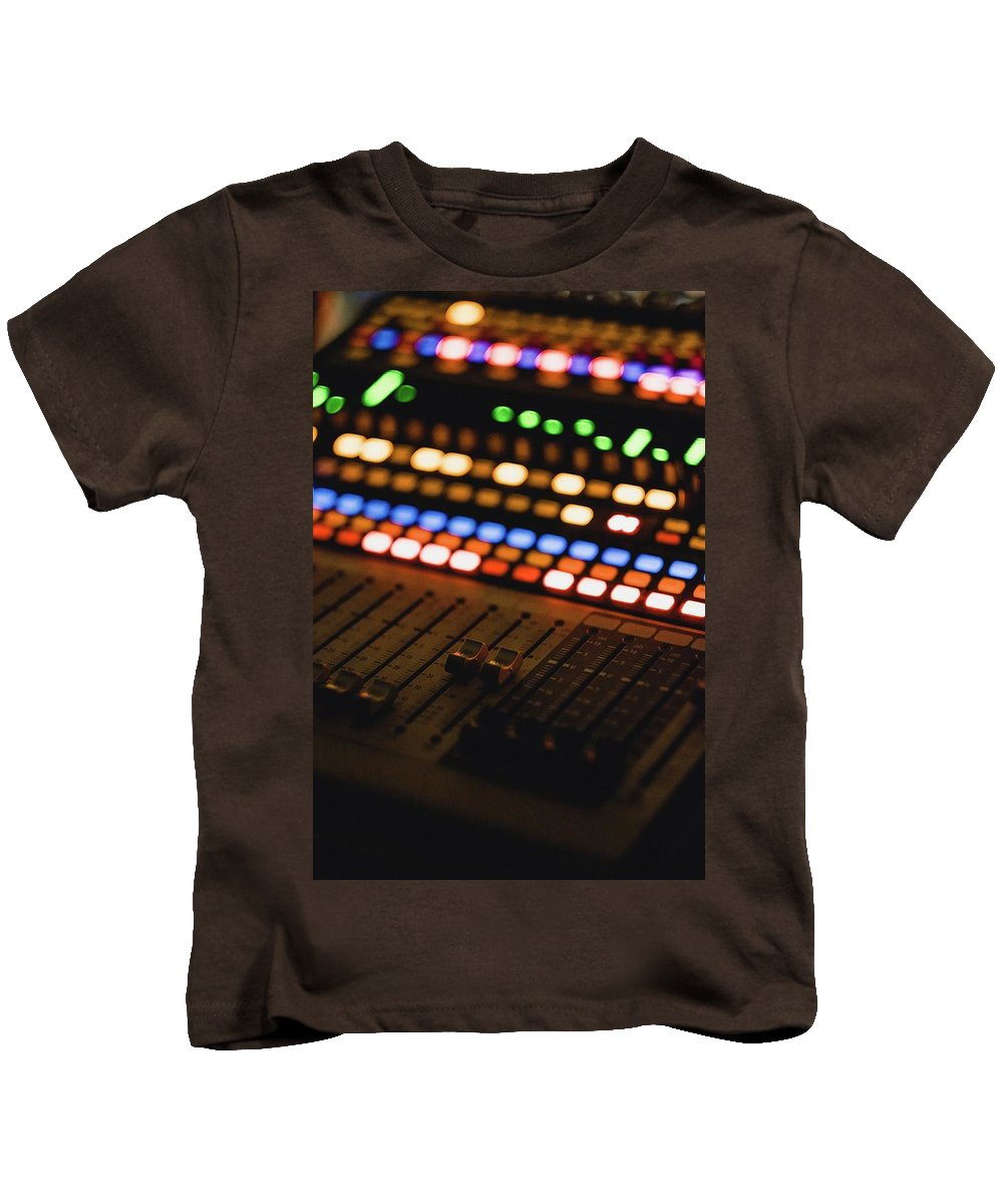 Soundboard Kids T-Shirt featuring the photograph Control Central by Billy Soden
