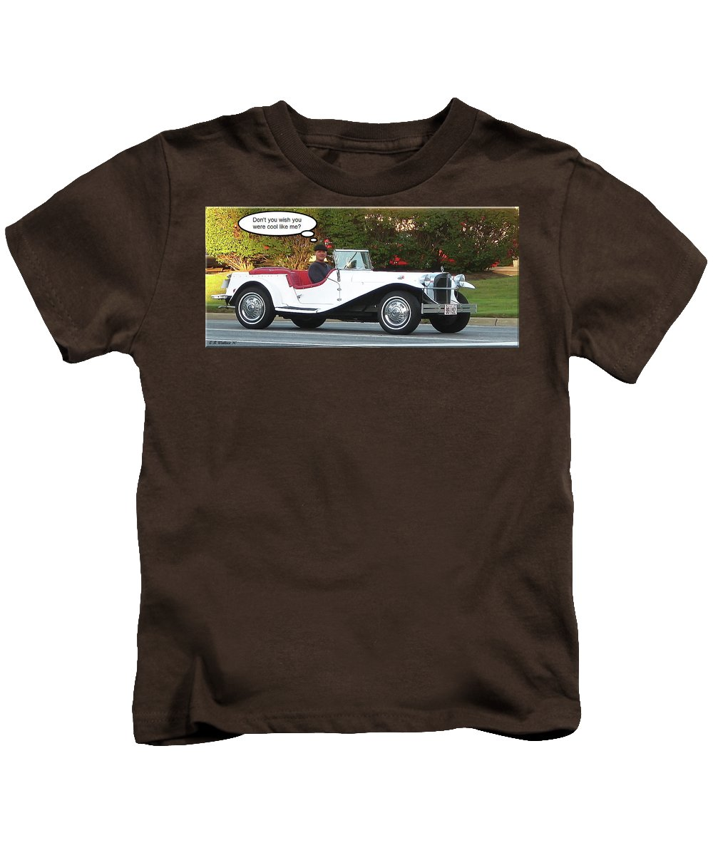 2d Kids T-Shirt featuring the photograph Cool Like Me by Brian Wallace