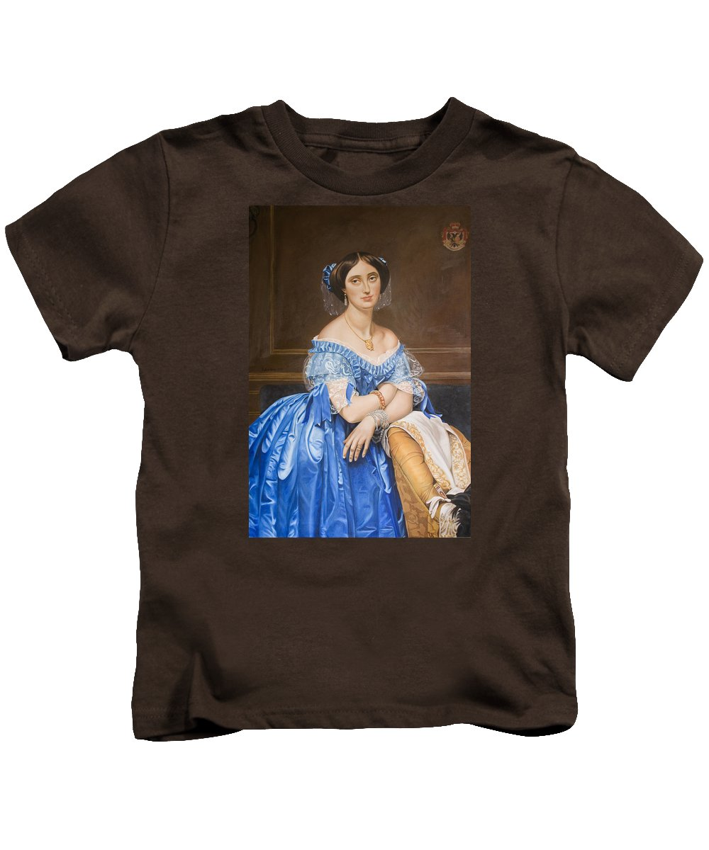 Ingres Kids T-Shirt featuring the painting Copy After Ingres by Rob De Vries