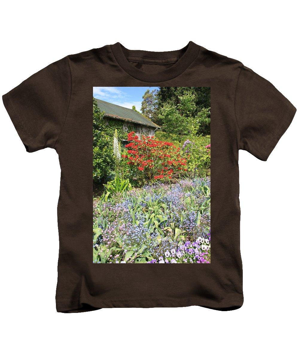 Garden Kids T-Shirt featuring the photograph Cottage Garden by Carol Groenen