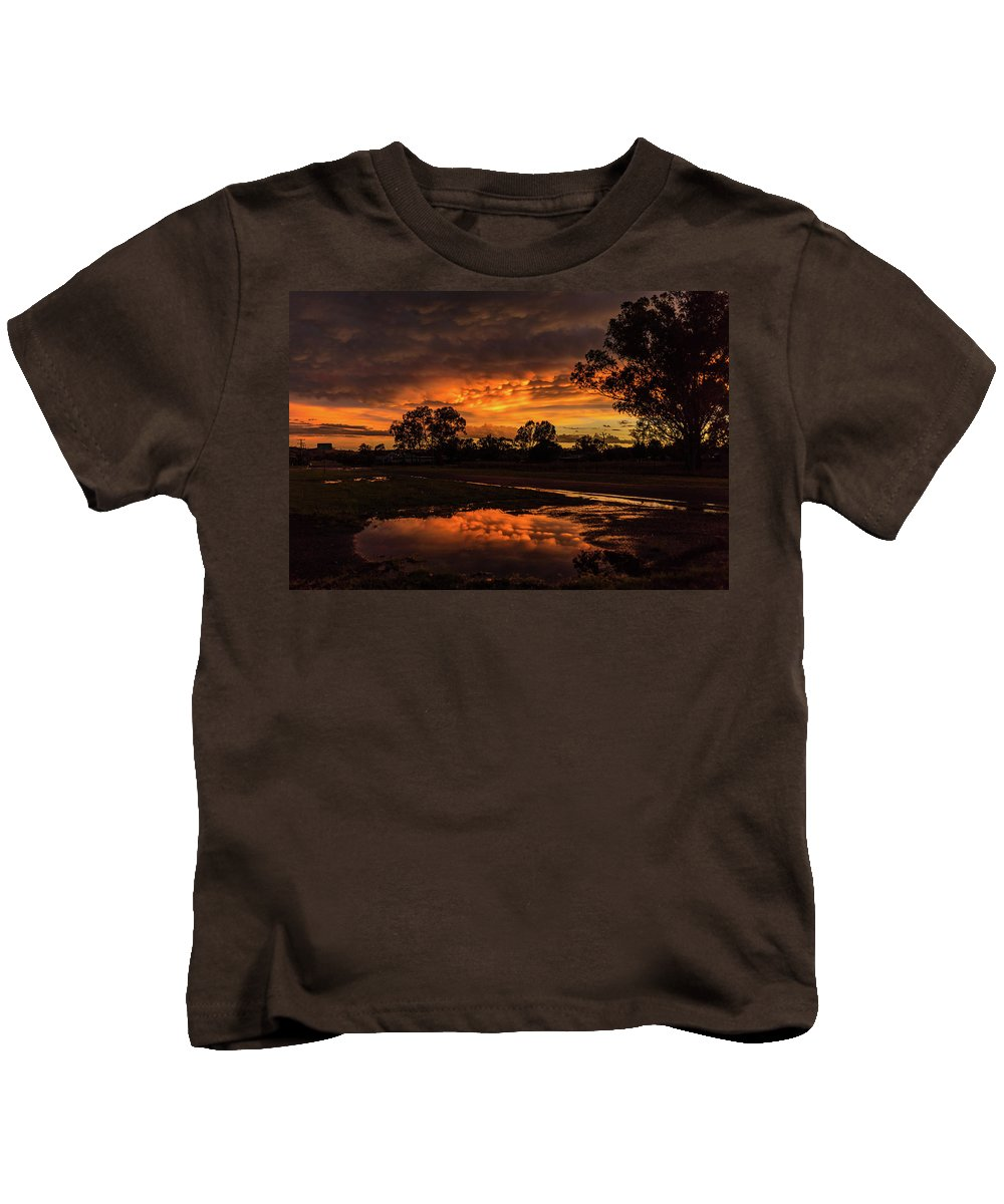 Sunset Kids T-Shirt featuring the photograph Country Sunset by Graeme Mell