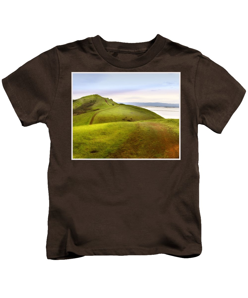 Landscape Kids T-Shirt featuring the photograph Coyote Hills by Karen W Meyer