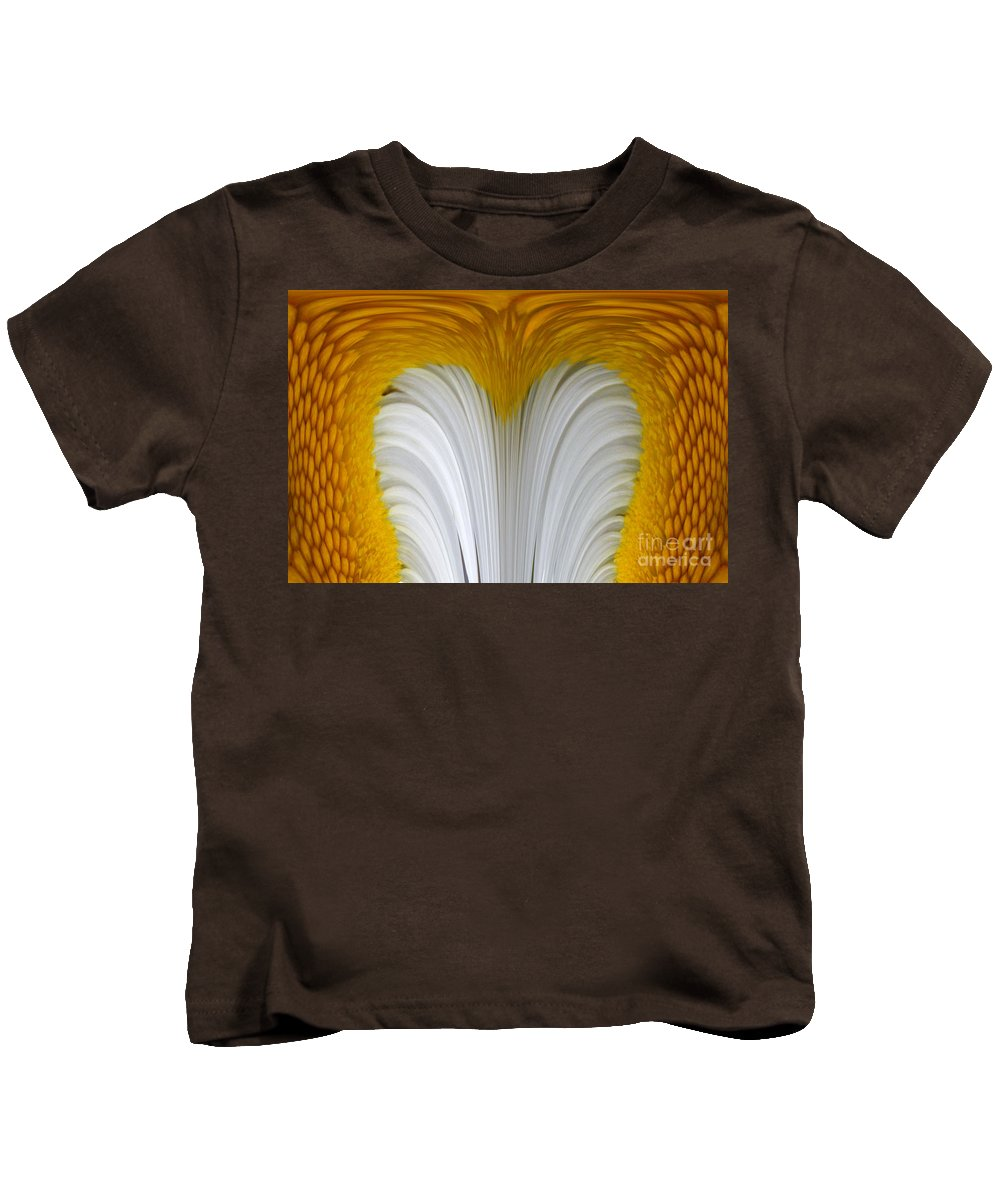 Daisly Kids T-Shirt featuring the digital art Cozy Shawl Daisy by Barbara Griffin