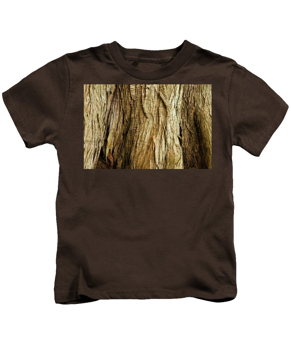 Bark Kids T-Shirt featuring the photograph Cracked And Stretched by Amy Dooley