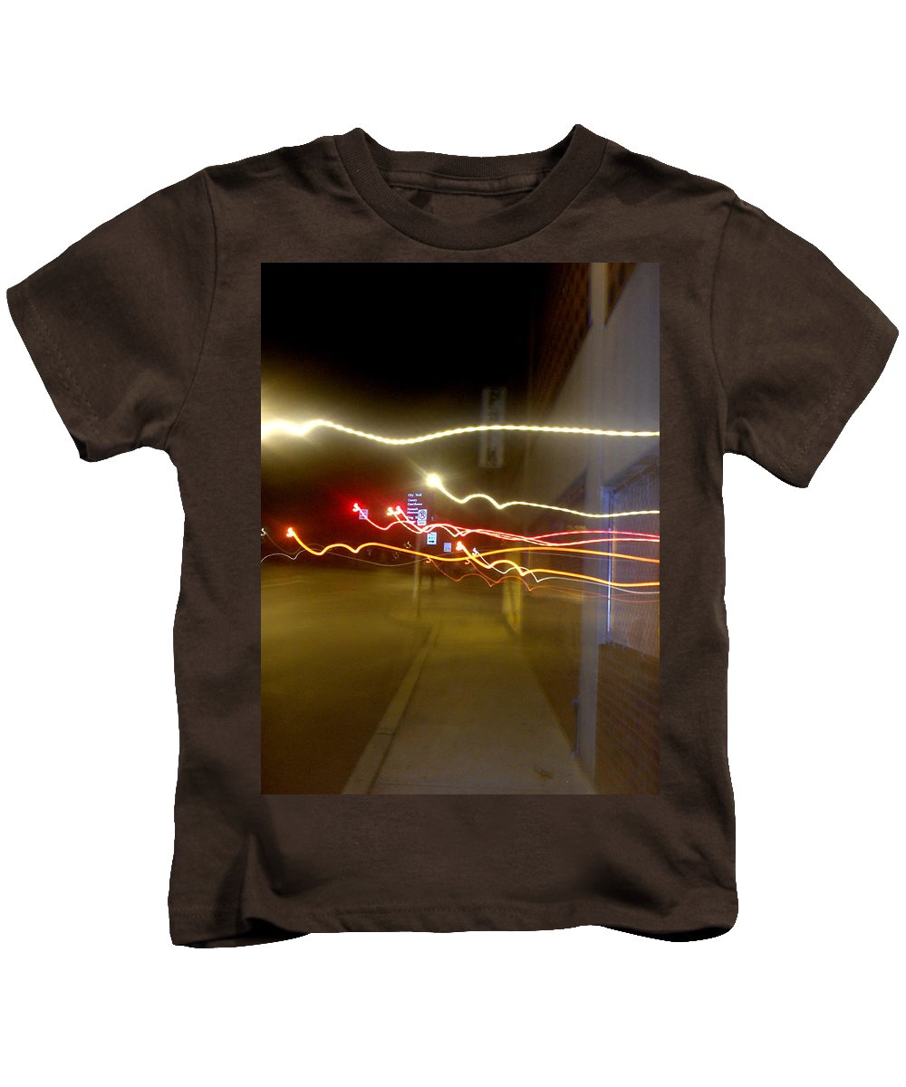 Photograph Kids T-Shirt featuring the photograph Crazy Duke Street Lights by Thomas Valentine