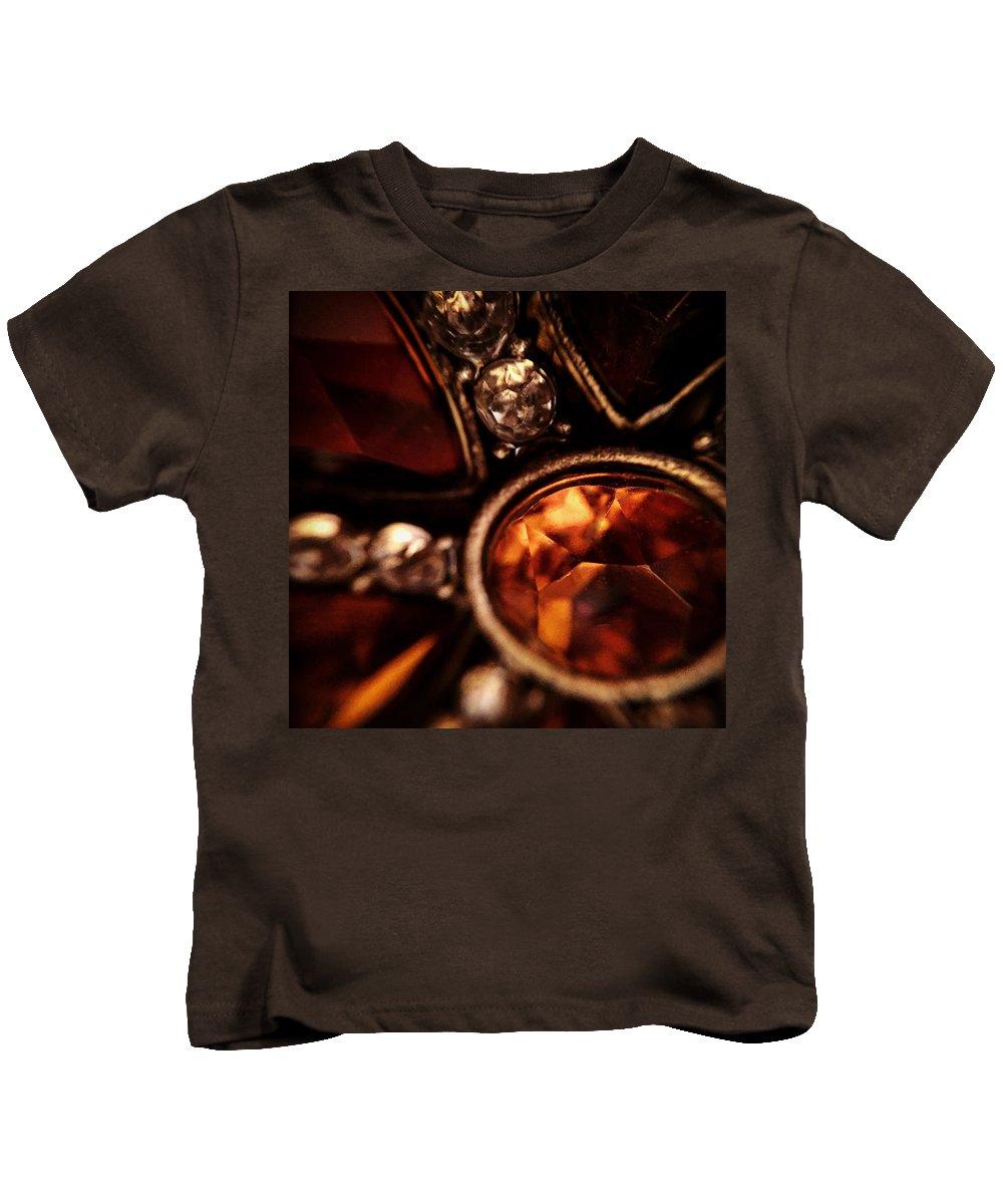 Closeup Kids T-Shirt featuring the photograph Crown Jewel by Mykel Davis