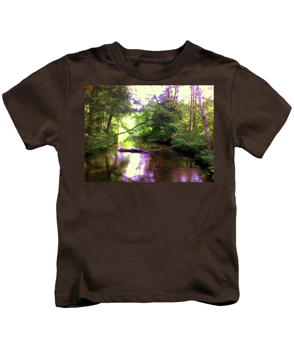 Crystal River Kids T-Shirt featuring the mixed media Crystal River by Desiree Paquette