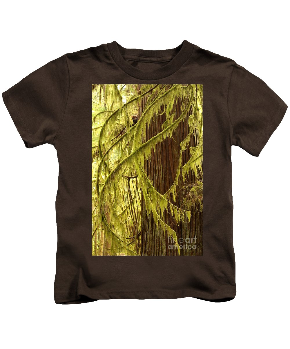 Natural Patterns Kids T-Shirt featuring the photograph Curves In The Rainforest by Carol Groenen