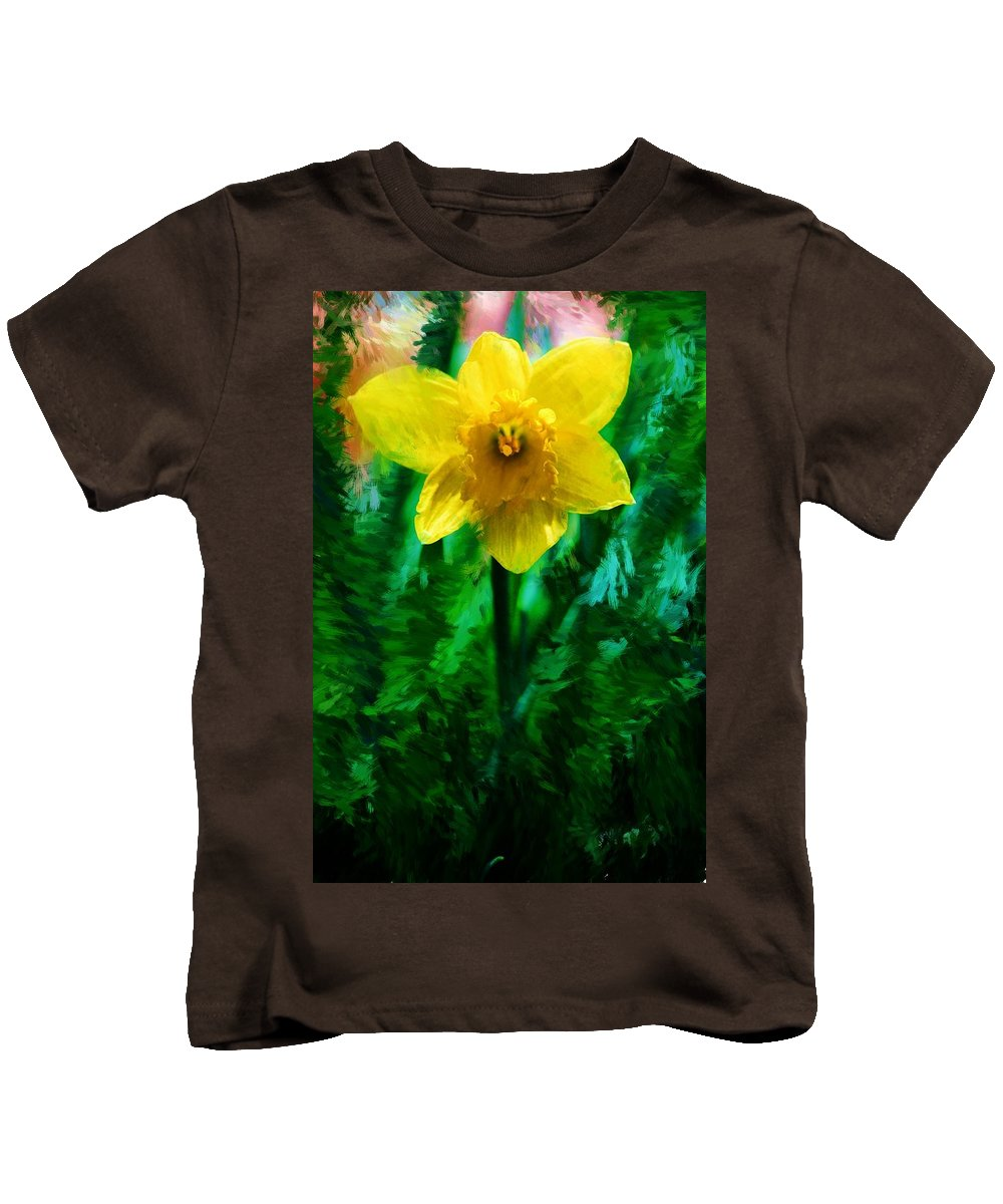 Abstract Kids T-Shirt featuring the photograph Daffy Dill by David Lane