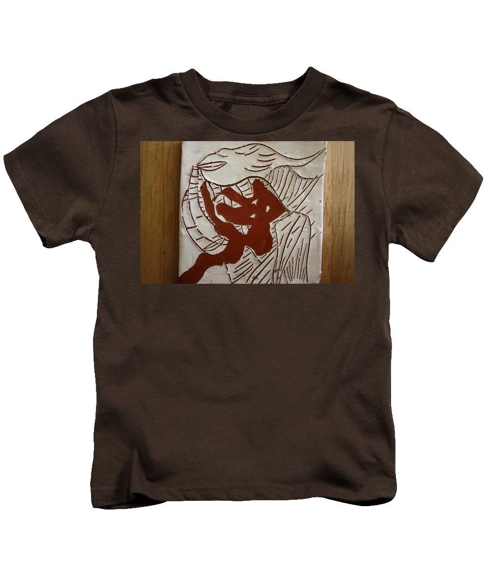 Jesus Kids T-Shirt featuring the ceramic art Dance - Tile by Gloria Ssali
