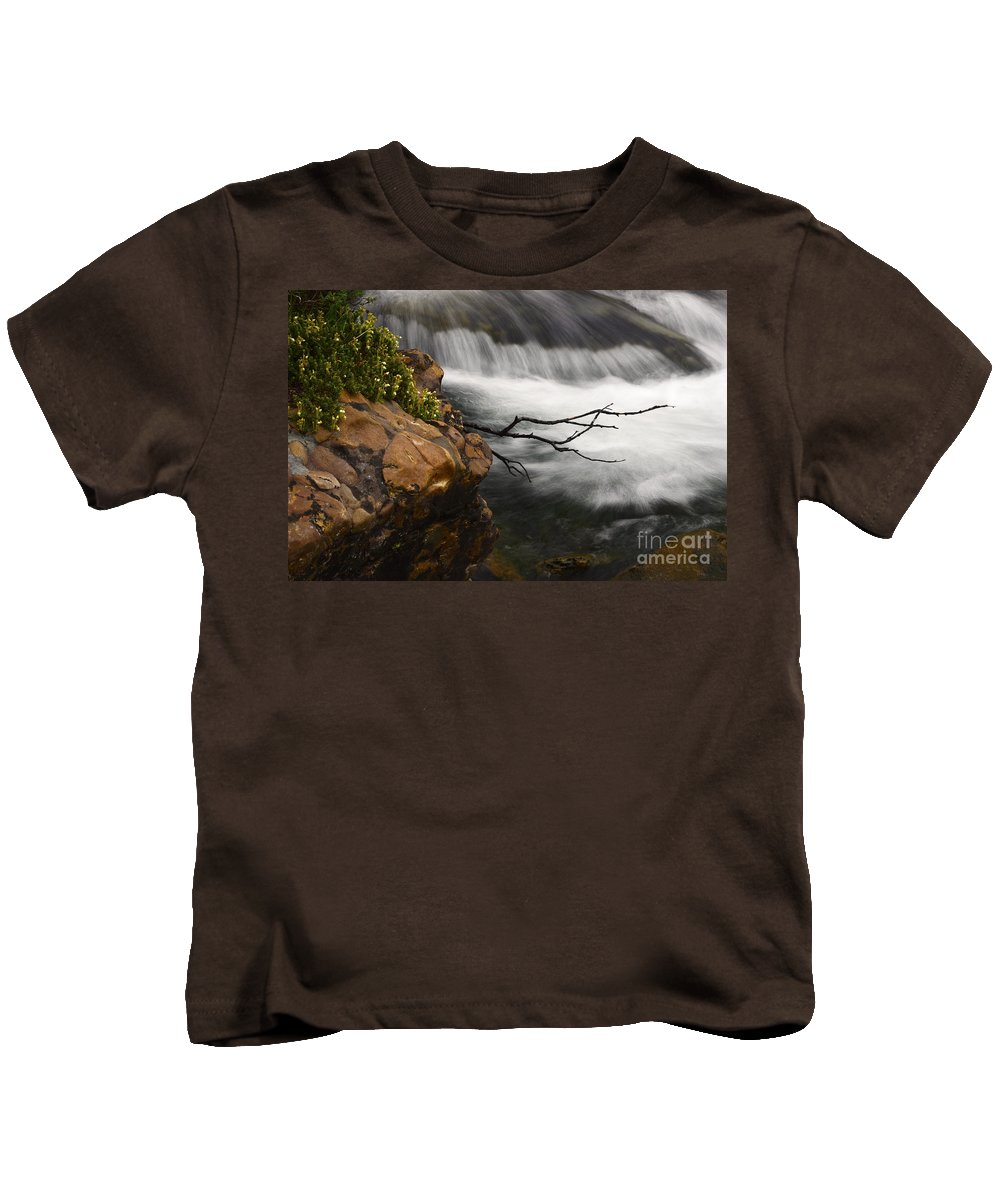 Water Kids T-Shirt featuring the photograph Dancing Waters 3 by Bob Christopher