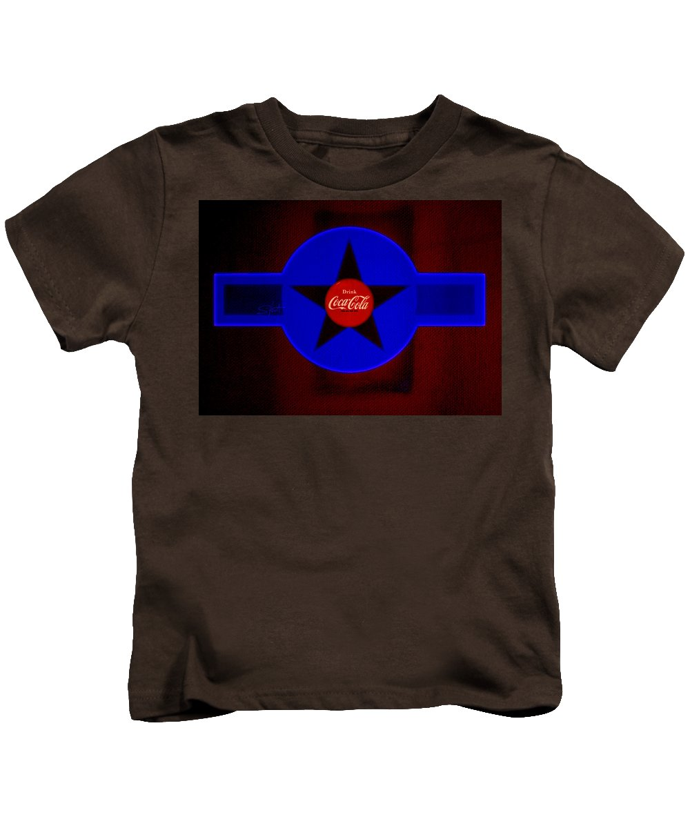 Label Kids T-Shirt featuring the painting Dark Red by Charles Stuart