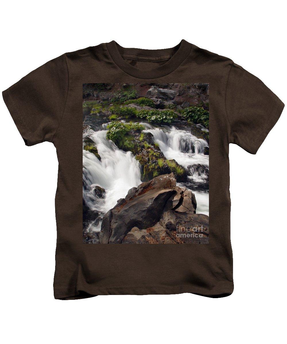 Creek Kids T-Shirt featuring the photograph Deer Creek 12 by Peter Piatt
