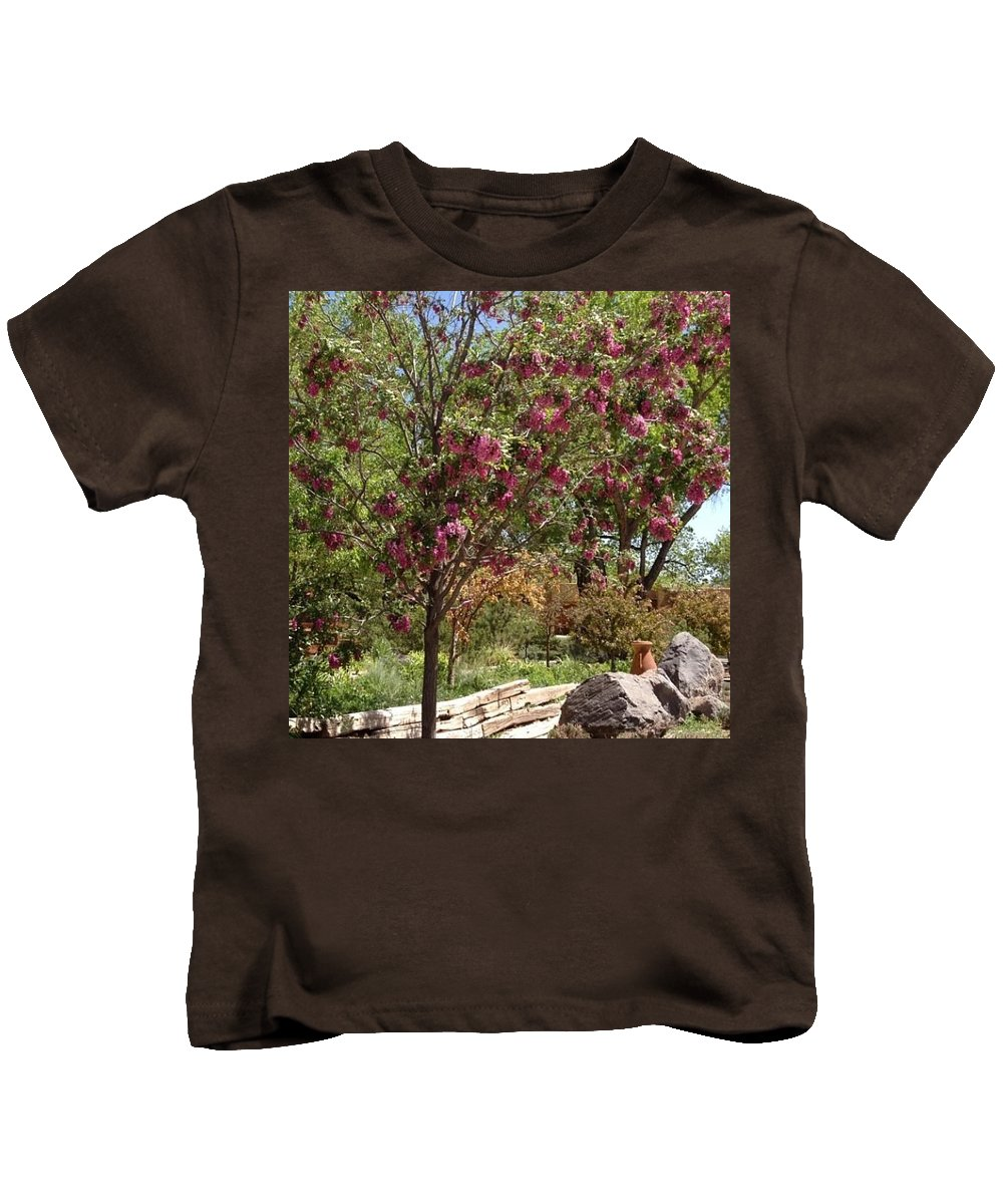 New Mexico Kids T-Shirt featuring the photograph Desert Willow Tree by Sonja Lopez