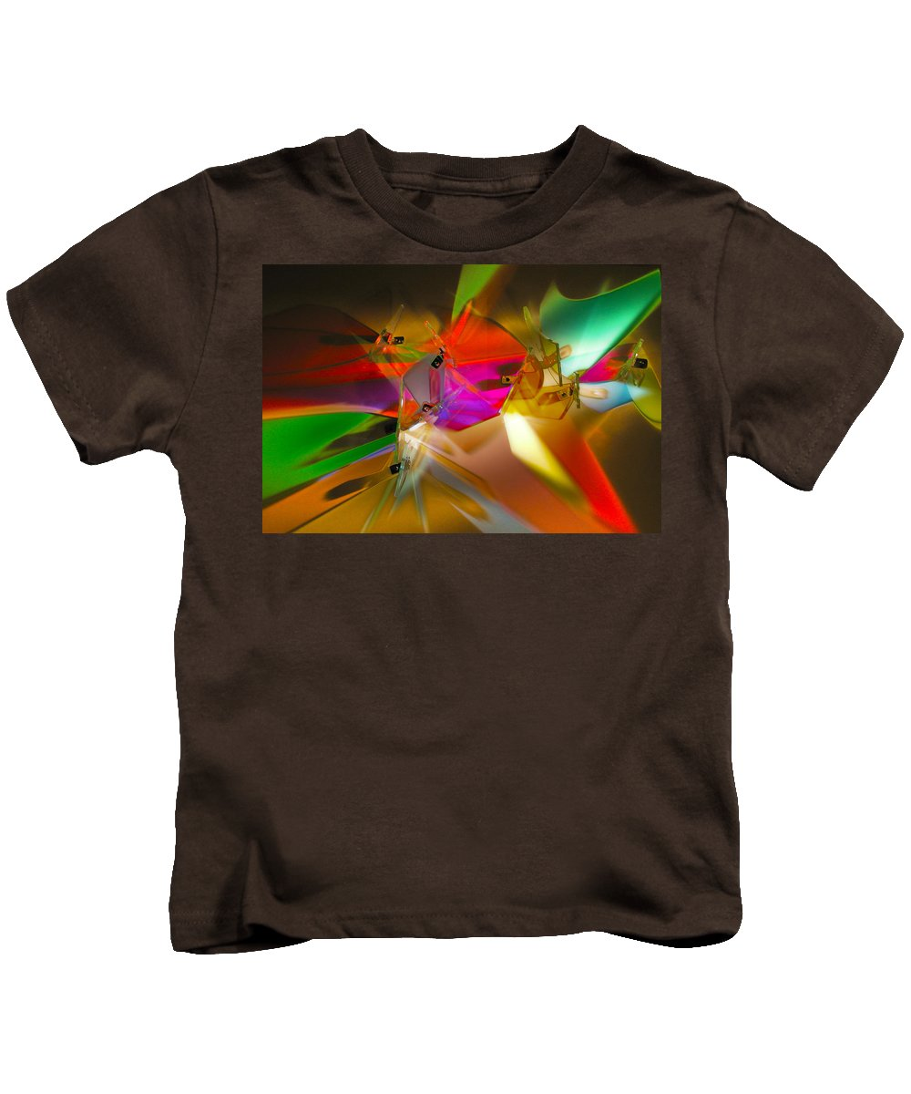 Abstract Kids T-Shirt featuring the photograph Dichro Lite by Mykel Davis